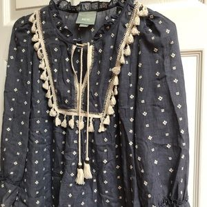 Anthropologie Maeve Women's shirt medium boho LS